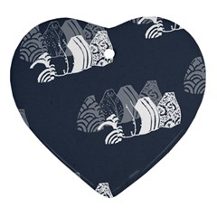 Japan Food Sashimi Heart Ornament (two Sides)