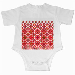 Plaid Red Star Flower Floral Fabric Infant Creepers