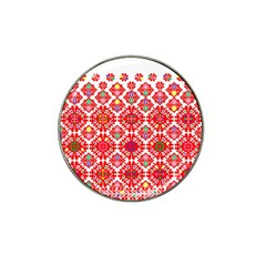 Plaid Red Star Flower Floral Fabric Hat Clip Ball Marker (10 Pack)