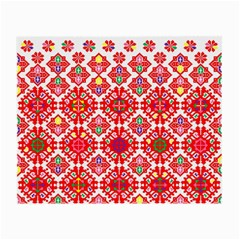 Plaid Red Star Flower Floral Fabric Small Glasses Cloth