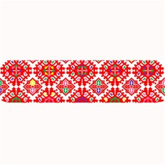 Plaid Red Star Flower Floral Fabric Large Bar Mats