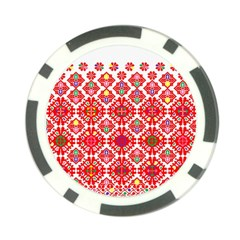 Plaid Red Star Flower Floral Fabric Poker Chip Card Guard