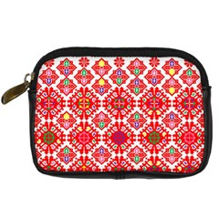 Plaid Red Star Flower Floral Fabric Digital Camera Cases