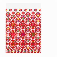 Plaid Red Star Flower Floral Fabric Large Garden Flag (two Sides)