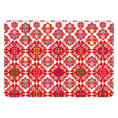 Plaid Red Star Flower Floral Fabric Samsung Galaxy Tab 8 9  P7300 Flip Case