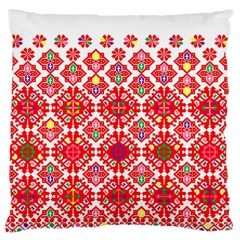 Plaid Red Star Flower Floral Fabric Large Flano Cushion Case (one Side)