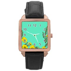 A New Day Rose Gold Leather Watch