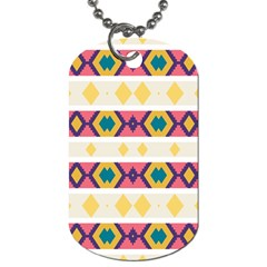 Rhombus And Stripes                            Dog Tag (one Side)