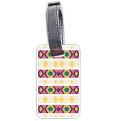 Rhombus And Stripes                            Luggage Tag (one Side)