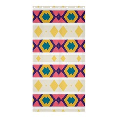 Rhombus And Stripes                       Shower Curtain 36  X 72