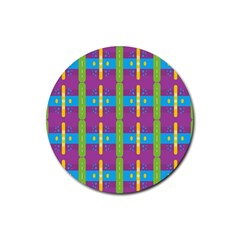 Stripes And Dots                           Rubber Coaster (round)