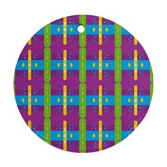 Stripes And Dots                           Ornament (round)
