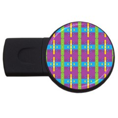 Stripes And Dots                           Usb Flash Drive Round (4 Gb)
