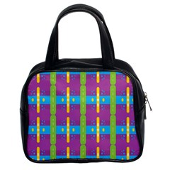 Stripes And Dots                           Classic Handbag (two Sides)