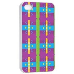 Stripes And Dots                     Apple Iphone 4/4s Seamless Case (white)