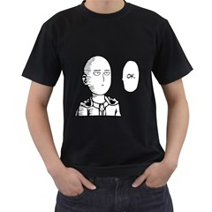 Saitama Men s T Shirt (black) (two Sided)