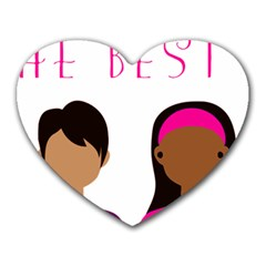 Black Girls Be The Best You Heart Mousepads