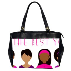 Black Girls Be The Best You Office Handbags (2 Sides)