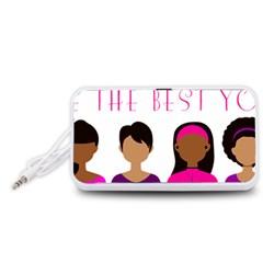 Black Girls Be The Best You Portable Speaker (white)