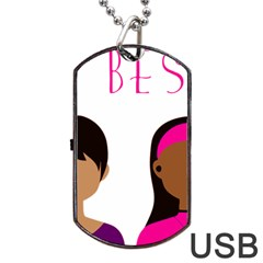 Black Girls Be The Best You Dog Tag Usb Flash (two Sides)