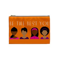 Black Girls Be The Best You Cosmetic Bag (medium)