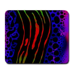 Frog Spectrum Polka Line Wave Rainbow Large Mousepads