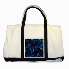 Pattern Butterfly Blue Stone Two Tone Tote Bag