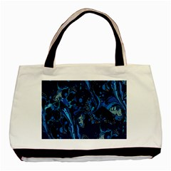Pattern Butterfly Blue Stone Basic Tote Bag (two Sides)