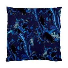 Pattern Butterfly Blue Stone Standard Cushion Case (one Side)