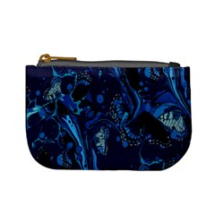 Pattern Butterfly Blue Stone Mini Coin Purses