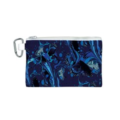 Pattern Butterfly Blue Stone Canvas Cosmetic Bag (s)