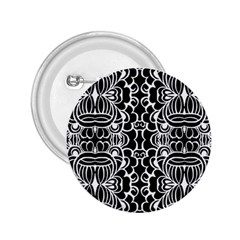 Psychedelic Pattern Flower Black 2 25  Buttons