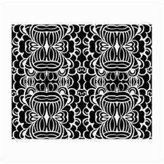 Psychedelic Pattern Flower Black Small Glasses Cloth