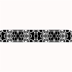 Psychedelic Pattern Flower Black Small Bar Mats