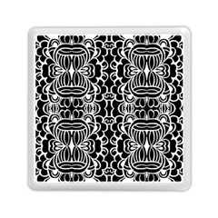 Psychedelic Pattern Flower Black Memory Card Reader (square)