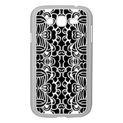 Psychedelic Pattern Flower Black Samsung Galaxy Grand Duos I9082 Case (white)