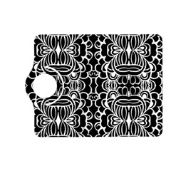 Psychedelic Pattern Flower Black Kindle Fire Hd (2013) Flip 360 Case