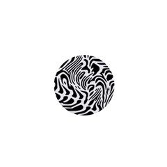 Psychedelic Zebra Black White Line 1  Mini Buttons