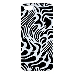 Psychedelic Zebra Black White Line Apple Iphone 5 Premium Hardshell Case