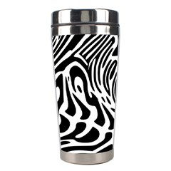 Psychedelic Zebra Black White Line Stainless Steel Travel Tumblers