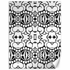 Psychedelic Pattern Flower Crown Black Flower Canvas 12  X 16