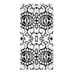 Psychedelic Pattern Flower Crown Black Flower Shower Curtain 36  X 72  (stall)