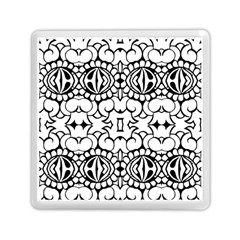 Psychedelic Pattern Flower Crown Black Flower Memory Card Reader (square)