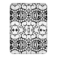 Psychedelic Pattern Flower Crown Black Flower Samsung Galaxy Tab 4 (10 1 ) Hardshell Case