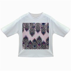 Peacock Feather Pattern Pink Love Heart Infant/toddler T Shirts