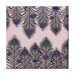 Peacock Feather Pattern Pink Love Heart Face Towel
