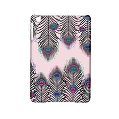 Peacock Feather Pattern Pink Love Heart Ipad Mini 2 Hardshell Cases