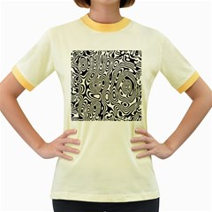 Psychedelic Zebra Black White Women s Fitted Ringer T Shirts