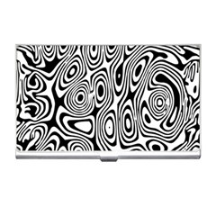 Psychedelic Zebra Black White Business Card Holders