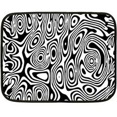 Psychedelic Zebra Black White Fleece Blanket (mini)